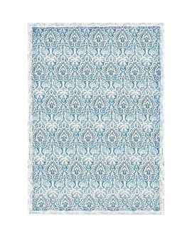 PAPEL DE ARROZ A3 DAMASK BLUE STAMPERIA DFSA3069