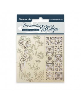 Decorative chips STAMPERIA Flores y Poema