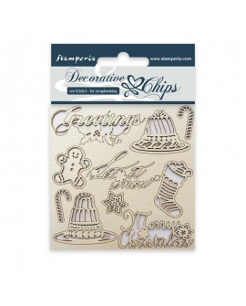 Decorative chips STAMPERIA Classic Christmas