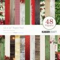 "Kaisercraft paper pad 12x12"" basecoat christmas"