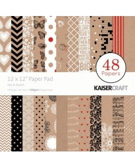 "Kaisercraft paper pad 12x12"" mix & match"