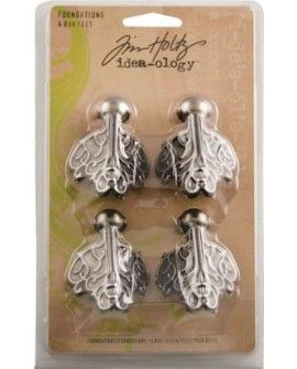 Tim Holtz foundations box feet x4 antique nickel