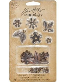 Tim Holtz foliage metal x18
