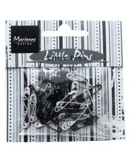 Marianne Design mini pins black & white