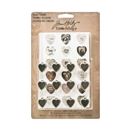Tim Holtz heart charms