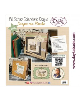 "KIT CALENDARIO SCRAPBOOKING ""ANTIQUE STYLE"" DAYKA TRADE"