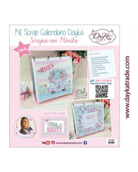 "KIT CALENDARIO SCRAPBOOKING ""BE HAPPY"" DAYKA TRADE"
