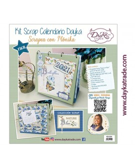 "KIT CALENDARIO SCRAPBOOKING ""NATURE IN BLUE"" DAYKA TRADE"