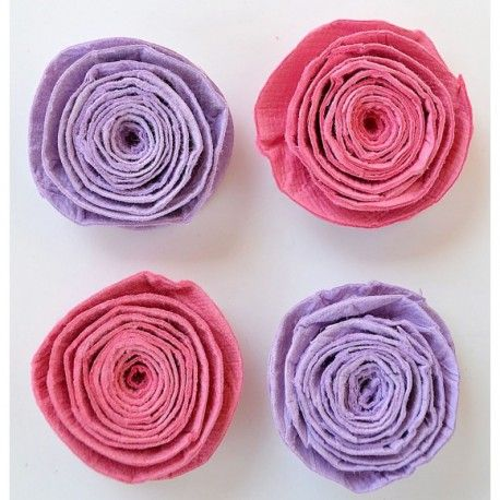 Creative elements spiral rose x4 mulberry blush