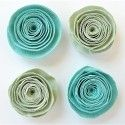 Creative elements spiral rose x4 pacific blue