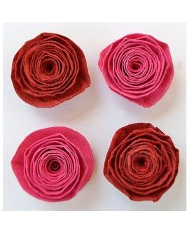 Creative elements spiral rose x4 cerise pink