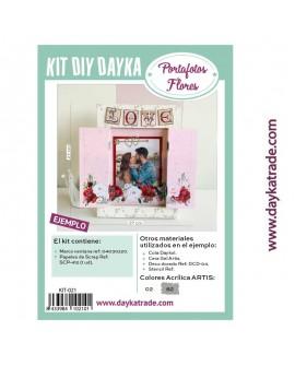 KIT DIY DAYKA TRADE PORTAFOTOS FLORES