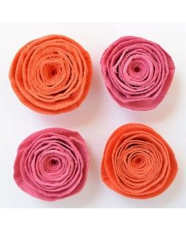 Creative elements spiral rose x4 scarlet blush