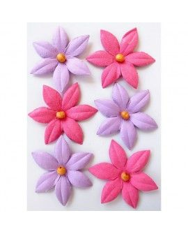Creative elements beaded lilies x6 mulberry blush