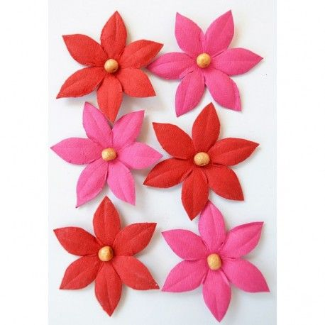 Creative elements beaded lilies x6 cerise pink