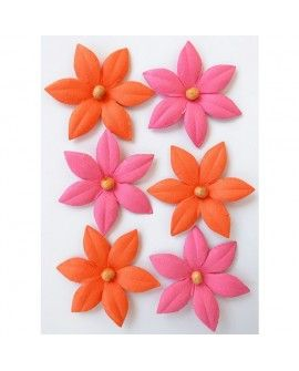 Creative elements beaded lilies x6 scarlet blush