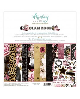 Set Scrapbooking GLAM ROCK Mintay by Karola 30x30 cm