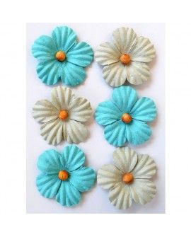 Creative elements beaded blooms x6 pacific blue