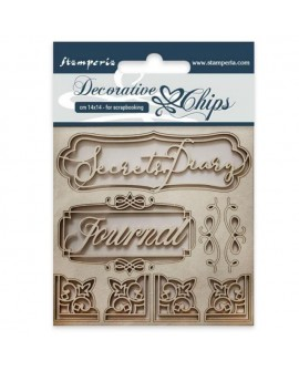 Decorative chips STAMPERIA Secret diary