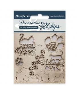 Decorative chips STAMPERIA Cats