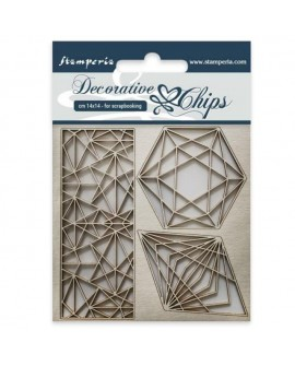 Decorative chips STAMPERIA Geometry