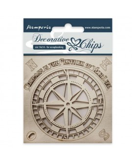 Decorative chips STAMPERIA Compass