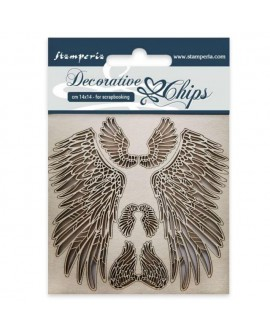 Decorative chips STAMPERIA Wings