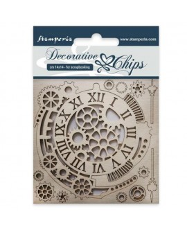 Decorative chips STAMPERIA Gears and clocks