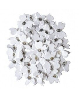 Creative elements white range jewelled butterflies x50