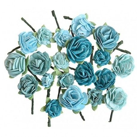 Creative elements handmade paper rose hill x20 blue