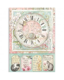 Papel de arroz A4 Packed Clock STAMPERIA