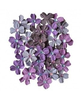 Creative elements handmade paper jewelled petals x40 purple