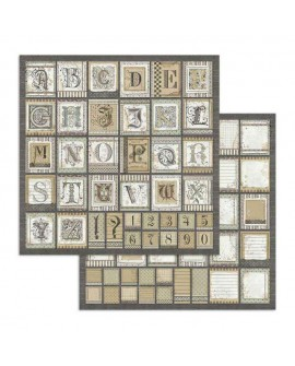 Papel Scrap Alphabet STAMPERIA