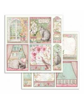 Papel Scrap Orchid cards STAMPERIA