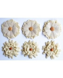 Creative elements canvas flowers x6