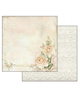 PAPEL SCRAP Peony and laces STAMPERIA 30,5x31,5 cm
