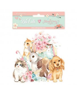 Die Cuts STAMPERIA Circle of Love cats, dogs and embellishments