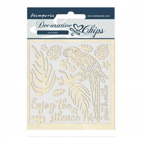 Decorative chips STAMPERIA Amazon Parrot
