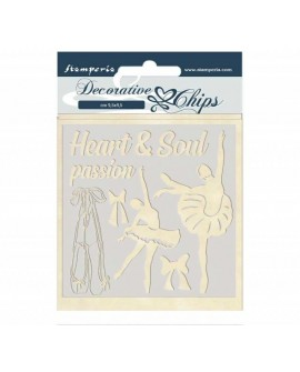 Decorative chips STAMPERIA Passion ballerina