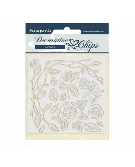 Decorative chips STAMPERIA Passion rose