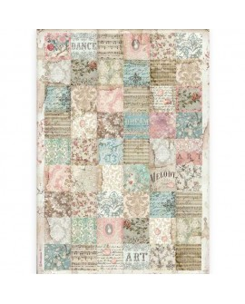 PAPEL DE ARROZ A3 Passion patchwork STAMPERIA