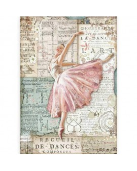 PAPEL DE ARROZ A4 Passion ballerina STAMPERIA