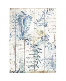 PAPEL DE ARROZ A4 Romantic Sea Dream conchiglie STAMPERIA
