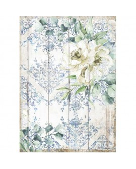 PAPEL DE ARROZ A4 Romantic Sea Dream fiore bianco STAMPERIA