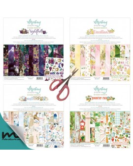 Pack 4 colecciones scrap Mintay VACATION+NIGTFALL+NEXT TRIP+COWNTRY FAIR