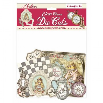 CLEAR DIE CUTS - ALICE CHARMS STAMPERIA