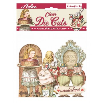 CLEAR DIE CUTS - ALICE THROUGH THE LOOKING GLASS
