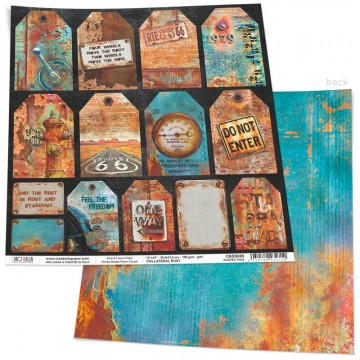 Papel Scrapbooking Rusted Tags CIAO BELLA 30x30 cm