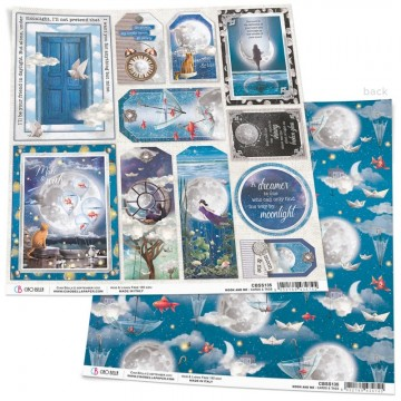 Papel Scrapbooking Moon & Me Cards and Tags CIAO BELLA 30x30 cm