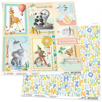 Papel Scrapbooking My First Year Cards CIAO BELLA 30x30 cm